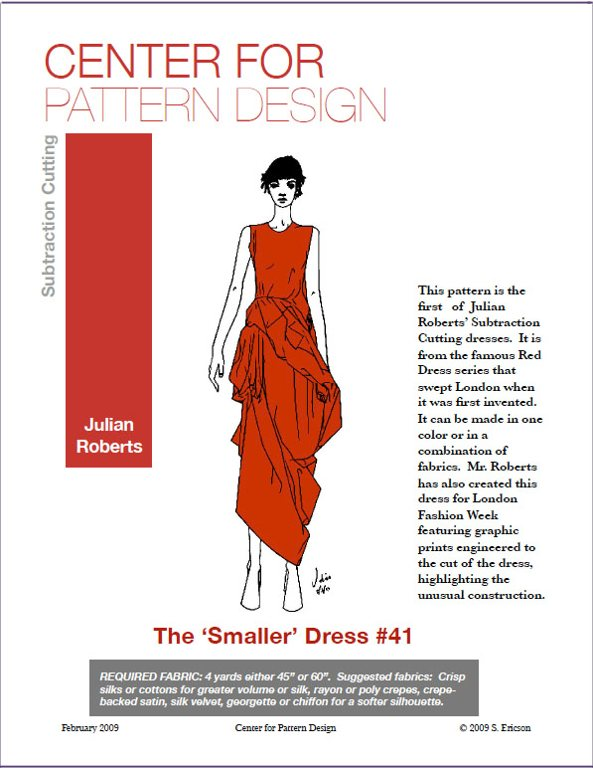 Smaller dress pattern envelop